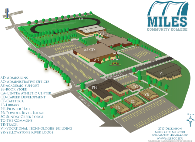 Mountain View College Campus Map.Campus Maps Miles Community College